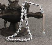 Zirkon Taşlı Mine İşlemeli Özel Tasarım 925 Ayar Gümüş Tesbih