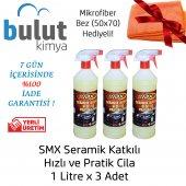 Smx Seramik Katkılı Hızlı Ve Pratik Cila, 3 Litre M.fiber Hediye