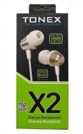 Tonex Süper Bass X2 3.5mm Mikrofonlu Kulaklık