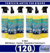 Smx İnox,fayans Ve Derz Temizlik Spreyi 6 Lt M.fiber Bez Hediyeli