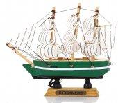 Yelkenli Ahşap Gemi Yeşil (E)