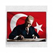 İyi Olsun Bayraklı Atatürk Portresi Her Mekana Uygun Dekoratif Kanvas Tablo 70 x 100 cm