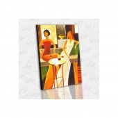İyi Olsun Cafedeki Kadınlar Kanvas Tablo 60 x 90 cm