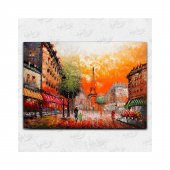 İyi Olsun Paris ve Eyfel Kulesi Manzaralı Kanvas Tablo 50 x 70 cm