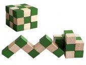 Yılan Küp Ahşap Puzzle