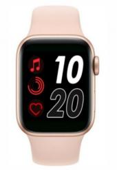 Akıllı Saat T500 Smart Watch Türkçe Menü Tam Dokunmatik Şık Tasarım-Pembe