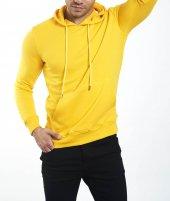 Fekmod Uzun Kol Kapşonlu Sarı Sweatshirt 3694