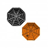 Cadılar Bayramı Örümcek Ağı Temalı Tabak Sekizgen 23 CM (8 Adet)