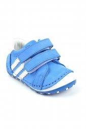 Akıllı Şirin Hakiki Deri El Işçiliği Tam Ortopedik Ilk Adım Bebek Ayakkabı Mavi