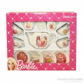 Vardem Barbie Porselen Çay Seti 13 Parça Kız Oyuncak