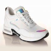 Palet Kadın Günlük Spor Ayakkabı Aynalı Beyaz...