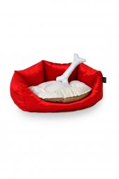 Teknor Soft Kedi & Köpek Yatağı 60X60X22- Bordo