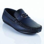 Palet Loafer Erkek Ayakkabı Deri Lacivert Gg