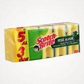 Scotch Brite Yeşil Bulaşık Süngeri 5 Al 3 Öde