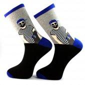 Skate Man Siyah Gri Çorap