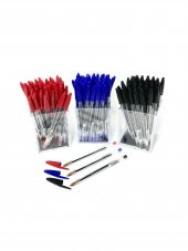 Bic Cristal Medium Tükenmez Kalem Kırmızı Siyah Mavi 150' Li Set