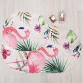 Soley Flamingo Banyo Paspası