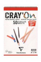 Clairefontaine CrayOn Çizim Blok A4 Üstten Spiralli 120 gr. 50 Yaprak