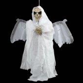 Halloween Kanat Çırpan Kurukafa Beyaz