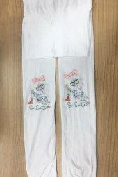 Nbb Kız Çocuk 50 Denye Desenli Külotlu Çorap Beyaz 9635