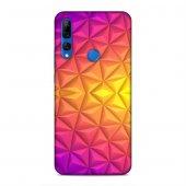 Huawei Y9 Prime 2019 Kılıf Elmas Rainbow Arka Kapak Silikon Koruma Full Koruyucu