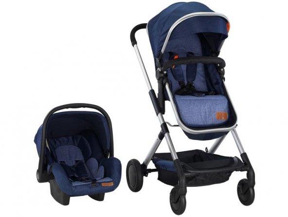 Baby2go 2035 Calme Travel Sistem Bebek Arabası Gri