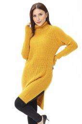 Kadın Tunik Sarı Örgü