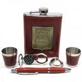 Jack İçki Viski Matara Seti 8 oz ( 227 ml ) Hediyelik Model 2