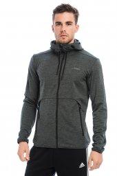 Adidas Essential 3 Stripe Hoodie Eşofman Üst CW3880 Gri