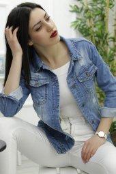 Kadın Ceket Yırtıklı Boyfrend Kot Mavi 0833.925.