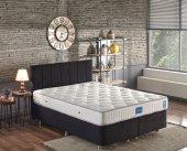 Niron Juliette 160x200 cm Çift Kişilik Lüks Yatak Seti - Siyah Kumaş Baza, Başlık ve Yatak Takımı
