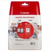 Canon PG-46L + CL 56 Renkli + Siyah 2'li Set Kartuş + 50 Li Fotoğraf Kağıdı