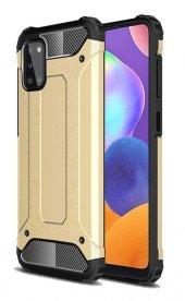 Oppo A72 Kılıf Çift Katmanlı Crash Darbe Korumalı Gold + Nano Cam Ekran Koruyucu-(anbcşx9d)