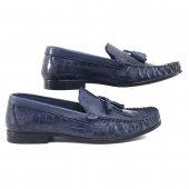 Inci Lacivert Krokodil Baskı Erkek Ayakkabı