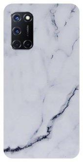 Oppo A72 Kılıf Silikon Memer Desen Beyaz + Tam Ekran Koruyucu Cam-(aapfghduv)