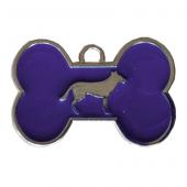 Kemik Şekilli Köpek İsimlik Aksesuar 2*3 cm Mavi