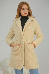 Astarlı Peluş Ceket Taş 19090.101.
