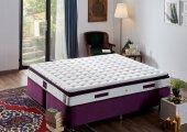 Niron Purple Full Ortopedik Lüks Pedli Yatak Orta Sert Yaylı Yatak