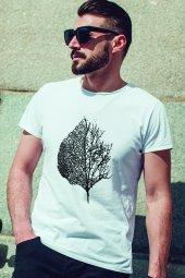 Leaf Beyaz Outdoor Erkek Tshirt - Tişört