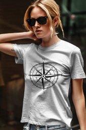 Pusula Beyaz Outdoor Kadın Tshirt - Tişört