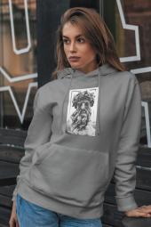Zeus Kadın Kapşonlu Sweatshirt - Hoodie