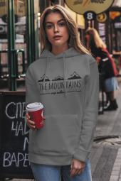 Mountain Gri NBA Kadın Kapşonlu Sweatshirt - Hoodie