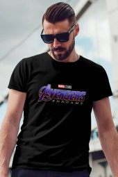 Avengers Siyah Erkek Tshirt - Tişört