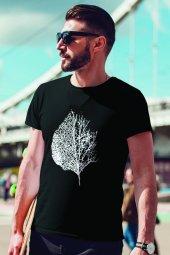 Leaf Siyah Outdoor Erkek Tshirt - Tişört
