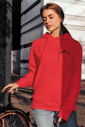 Little Mountain Kırmızı Kadın Kapşonlu Sweatshirt - Hoodie