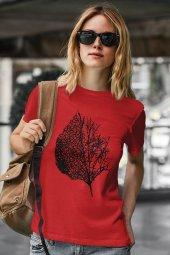 Leaf Kırmızı Outdoor Kadın Tshirt - Tişört