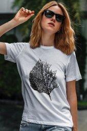 Leaf Beyaz Outdoor Kadın Tshirt - Tişört