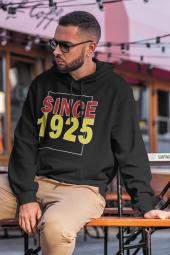 Since 1925 Siyah Erkek Kapşonlu Sweatshirt - Hoodie