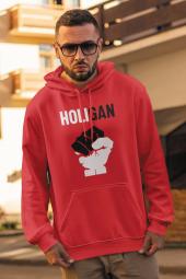 Haligan Kırmızı Erkek Kapşonlu Sweatshirt - Hoodie