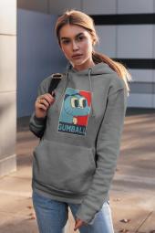 Gumball Gri Kadın Kapşonlu Sweatshirt - Hoodie